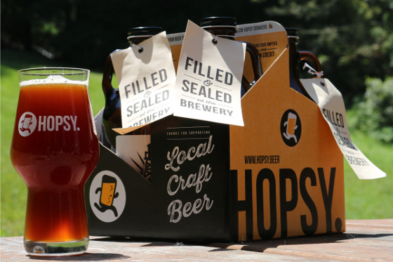 Hopsy growler delivery