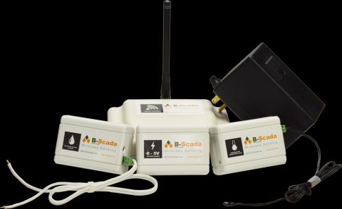 B-Scada's Low Cost, Long Range Wireless Sensors