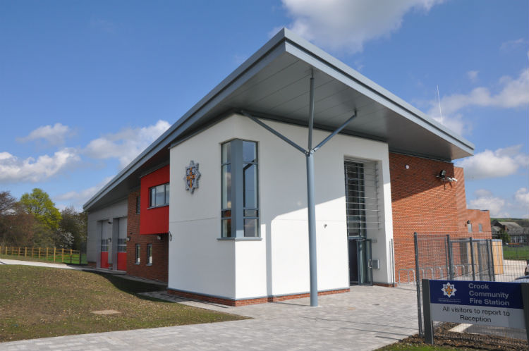 Retained fire station. Crook Co. Durham