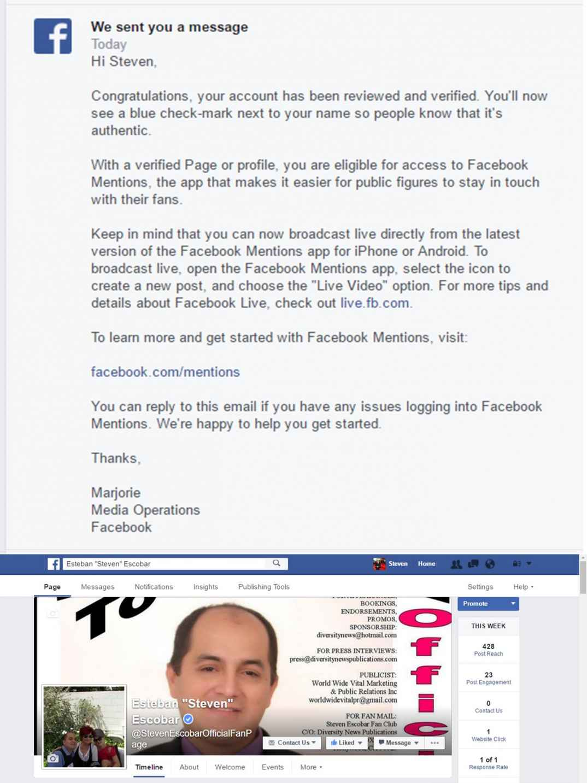 Esteban Steven Escobar Official Facebook Fan Page