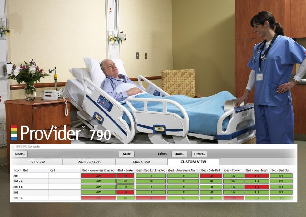 Provider PC Console Display Shows iBed Safety Attributes
