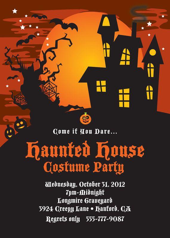 Party Invitations For Halloween Birthday Celebrations
