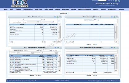 expEDIum_Medical_Billing_Software_Home_Page