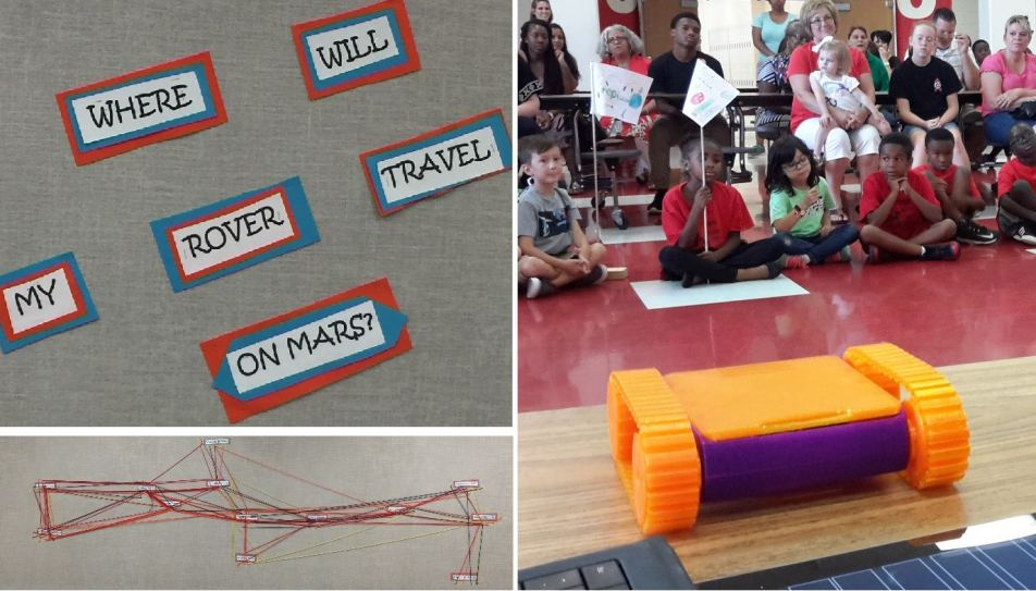 PGE STEM Camp students ready for Mars using 3D printed Mantis STEMTANK robot