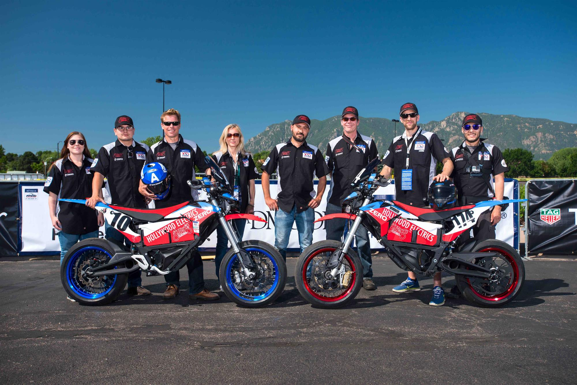 Team Hollywood Electrics at PPIHC with Zero FXS Electric Motorcycles