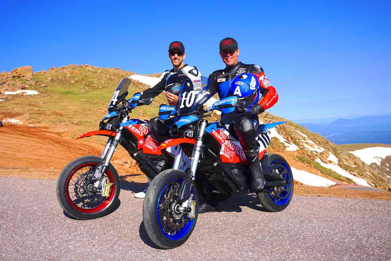 Team Hollywood Electrics Racers Marcel Irnie and Mark Miller at PPIHC