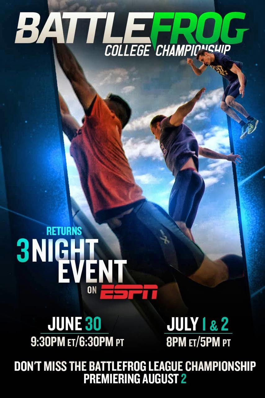 The BattleFrog College Championship Returns to ESPN June 30