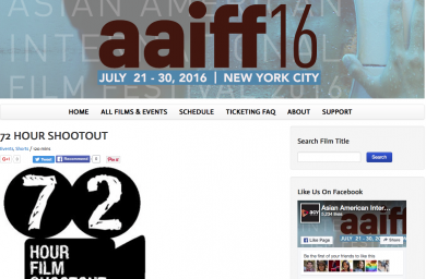 72 Hour Shootout at AAIFF
