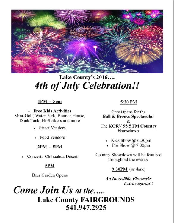 Lake County Fairgrounds July 4th Festival