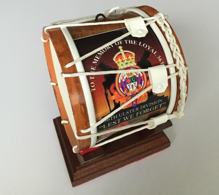 36th-Ulster-Division-Mini-Lambeg-Drum-With-Stand