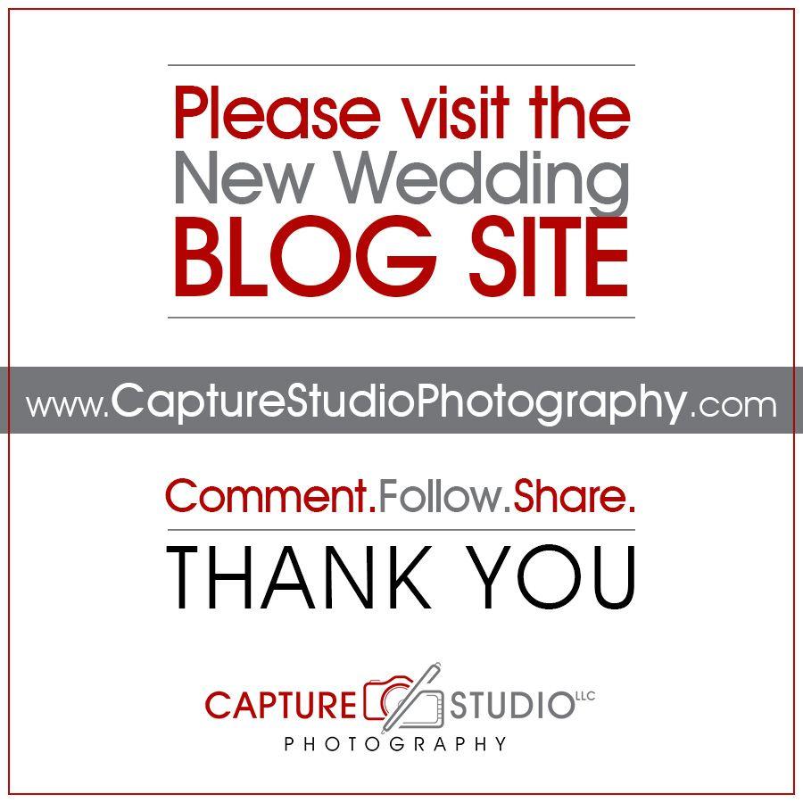 Capture Studio, LLC Wedding Blog Website