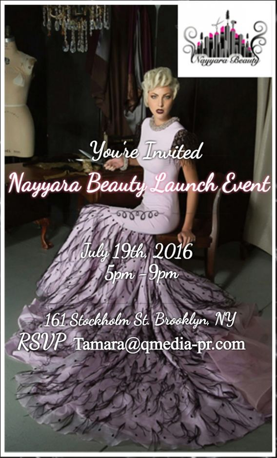 nayyara beauty event invitation