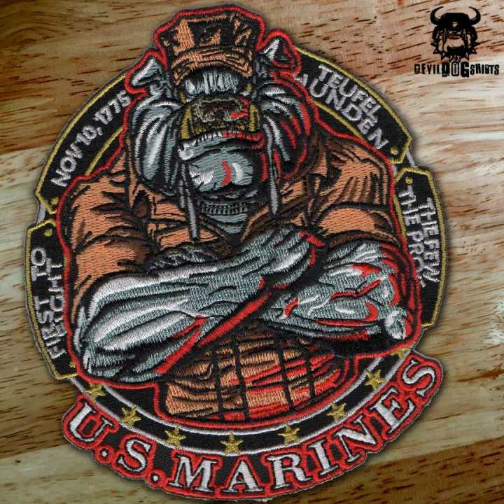 marine corps teufelhunden devil dog military patch