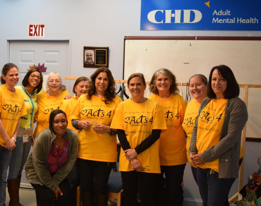 Staff members and volunteers from Acts 4 Ministry and CHD Hospitality Center