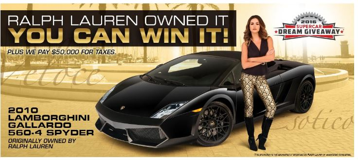Delightful The Supercar Dream Giveaway Features A Lamborghini And $50,000 For Taxes.