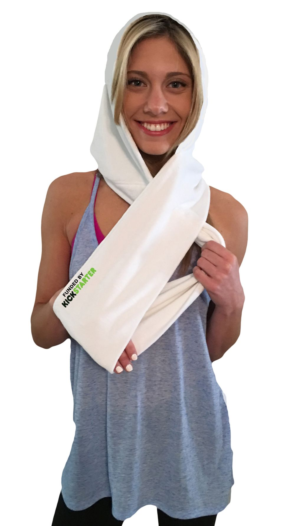 """Limited Edition """"funded by KICKSTARTER"""" towel"""