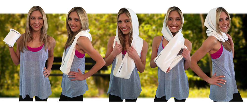 The Hooded Infinity Sport Towel... where fashion and function collide!
