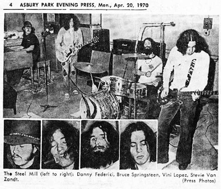 Early Press Photo of The Steel Mill Band