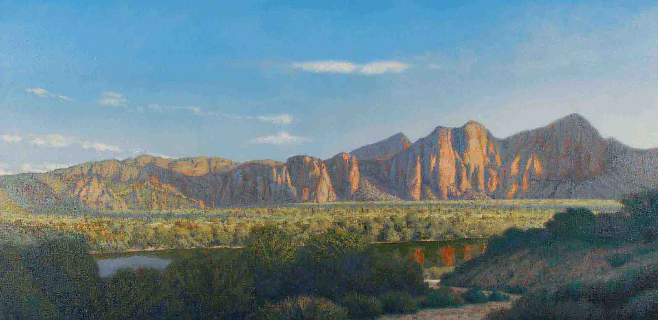 """""""Salt River"""" oil painting by Tony Winters"""