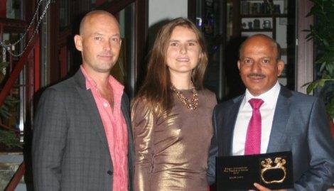 Festival Director, Daria Trifu (center) with Edward Button and Miguel Baretto