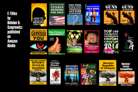 Current selection of E-Titles available and E-Books in Development