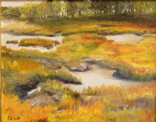 "Felicity Sidwell ~ ""October Salt Marsh"" ~ Oil on Canvas"