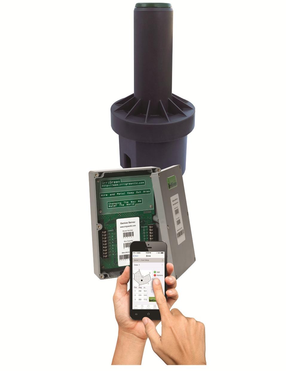 IrriGreen Genius Irrigation System: Digital Sprinkler, Server and Mobile App