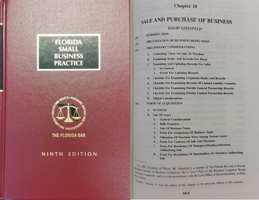 david steinfeld noted palm beach business attorney published in book from florida bar. Black Bedroom Furniture Sets. Home Design Ideas