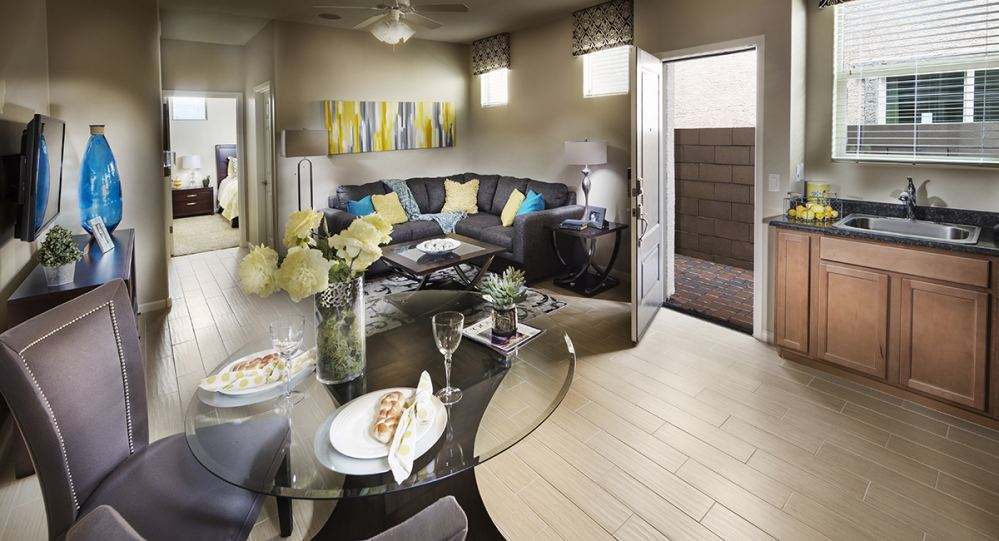 Inside of the main living area of Lennar's Freedom Plan Next Gen® suite.