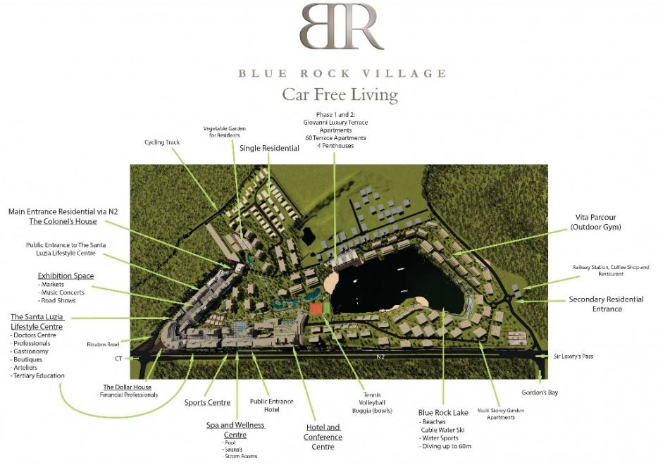 Blue Rock Village Site Map