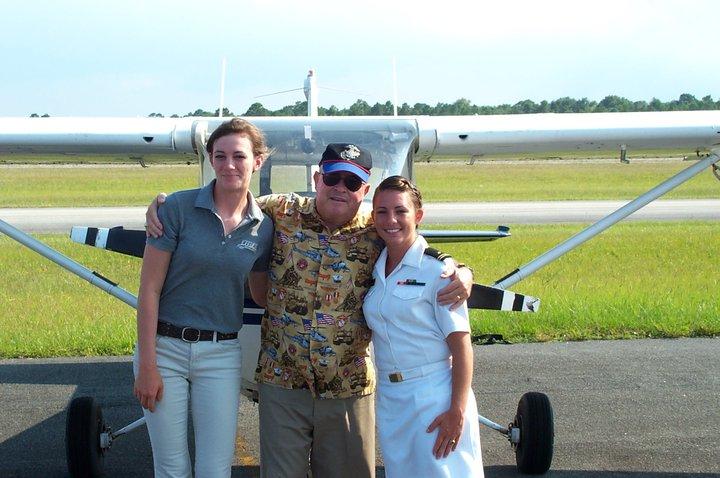 Col Howell & former students 1st Lt Victoria Emerson & Lt Jg Robyn Wegele.
