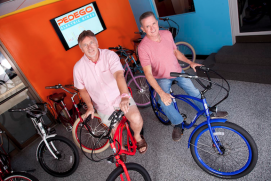 Don DiCostanzo and Terry Sherry co-founded Pedego Electric Bikes.