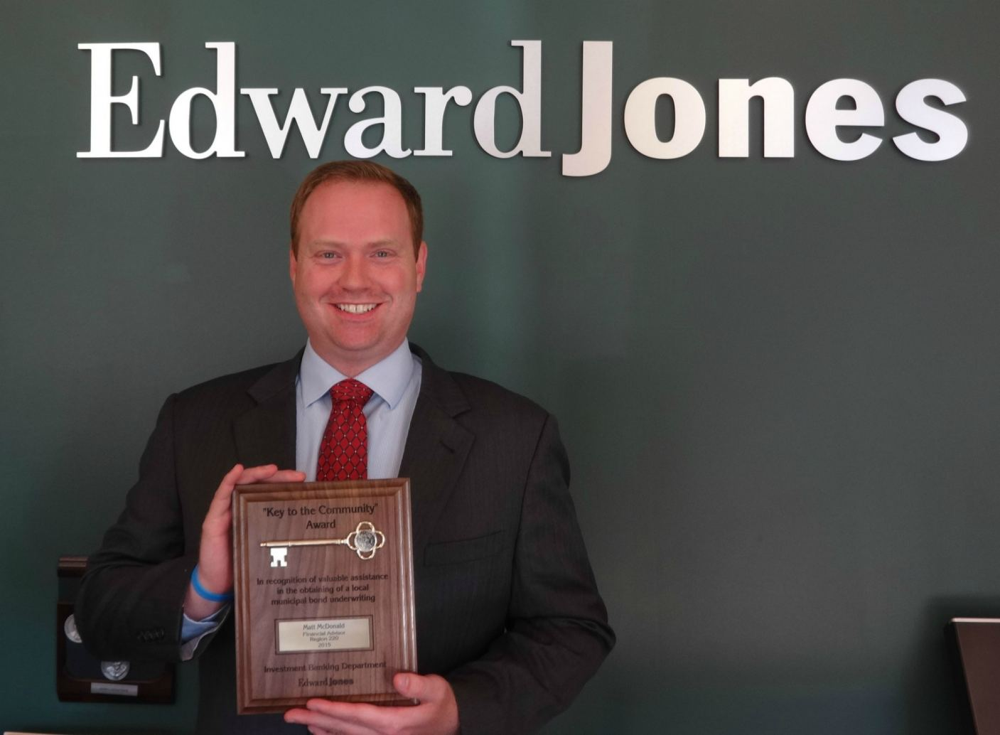 Edward Jones Key to the Community award - Matt McDonald in Kalamazoo