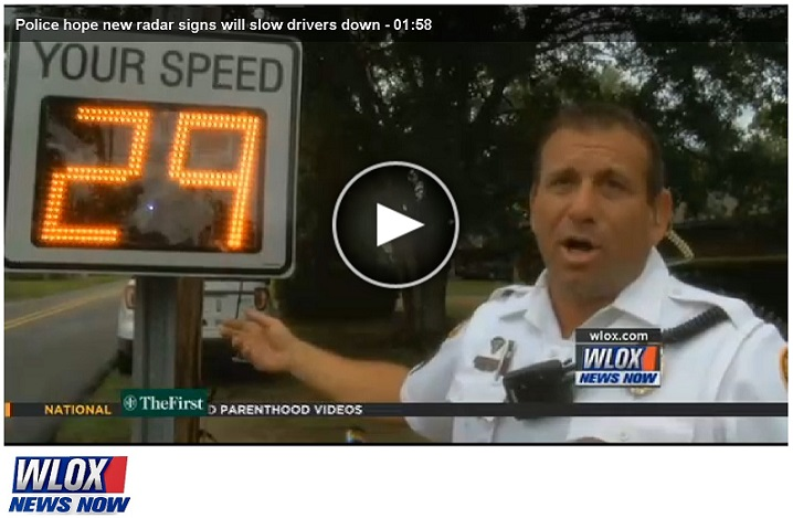 Radarsign in the News: WLOX in Biloxi, Miss  Reports on the