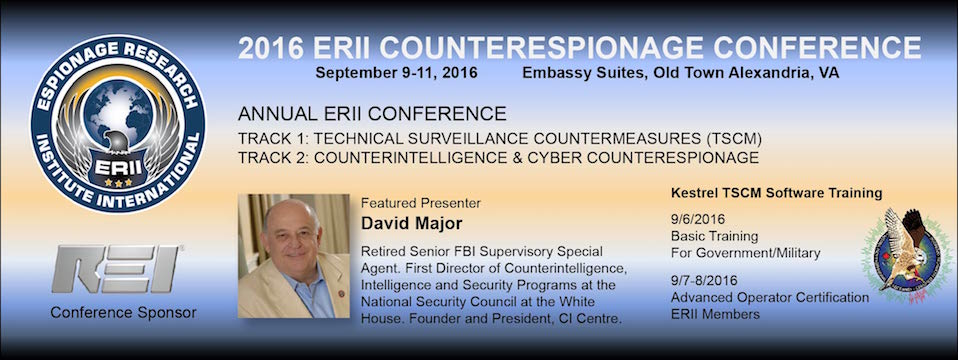 2016 ERII Counterespionage Conference