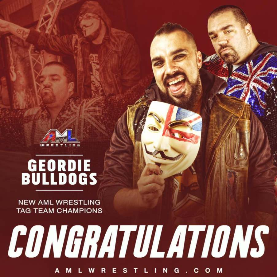 Geordie Bulldogs Become NEW AML Wrestling Tag Team Champs