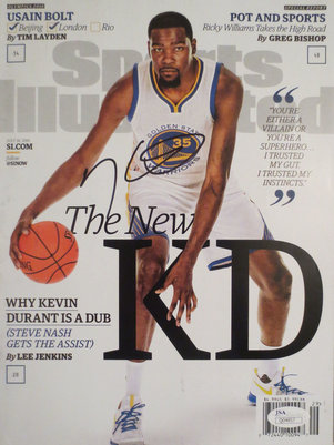 Kevin Durant Signed Warriors Sports Illustrated