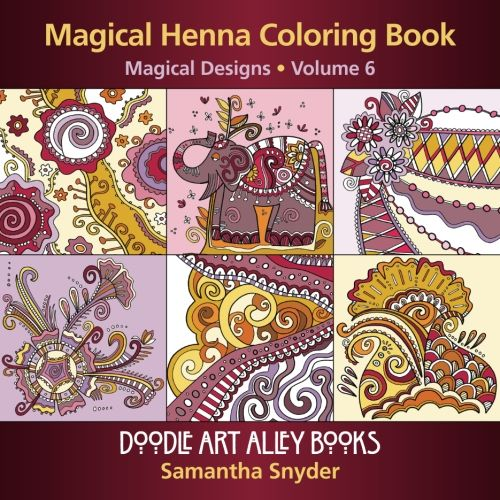 Magical Henna Coloring Book