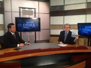 Doug Llewelyn & Michael J.Maher on the set