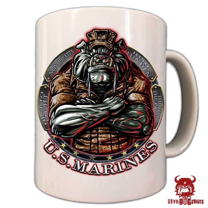 Us Marine Corps Devil Dog Coffee Mug Devildogshirts Com