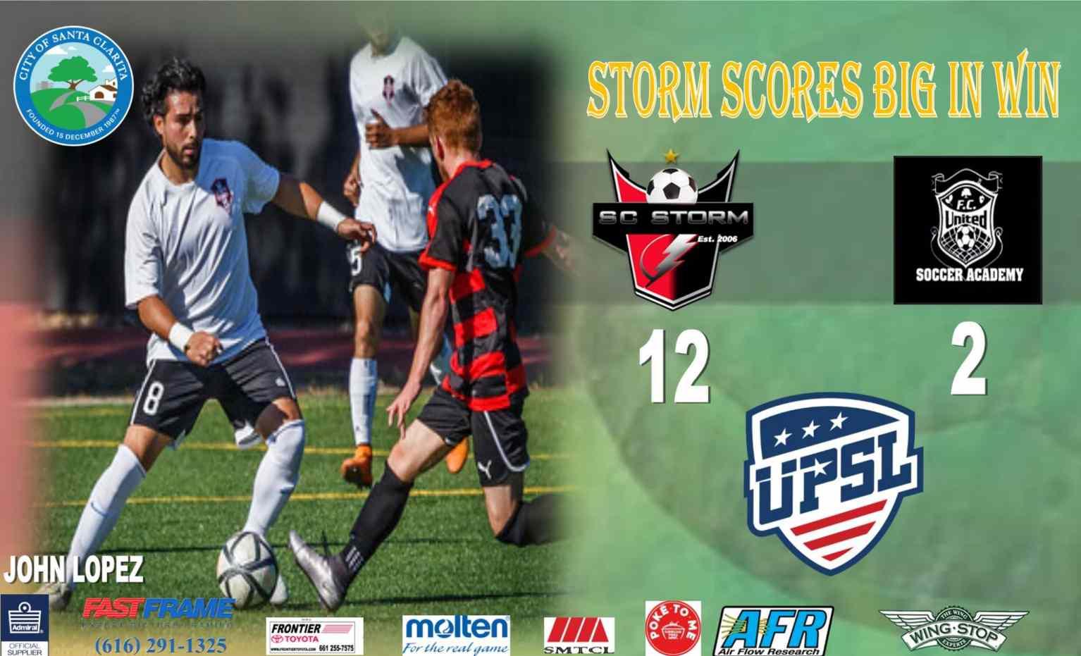 Storm vs FC United