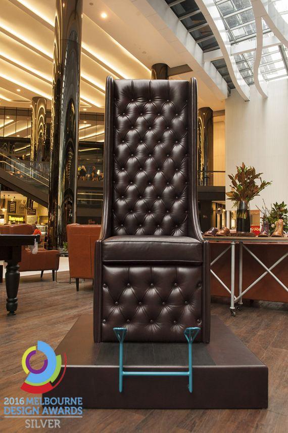 Melbourne Design Award winning Fortis Green shoeshine chair