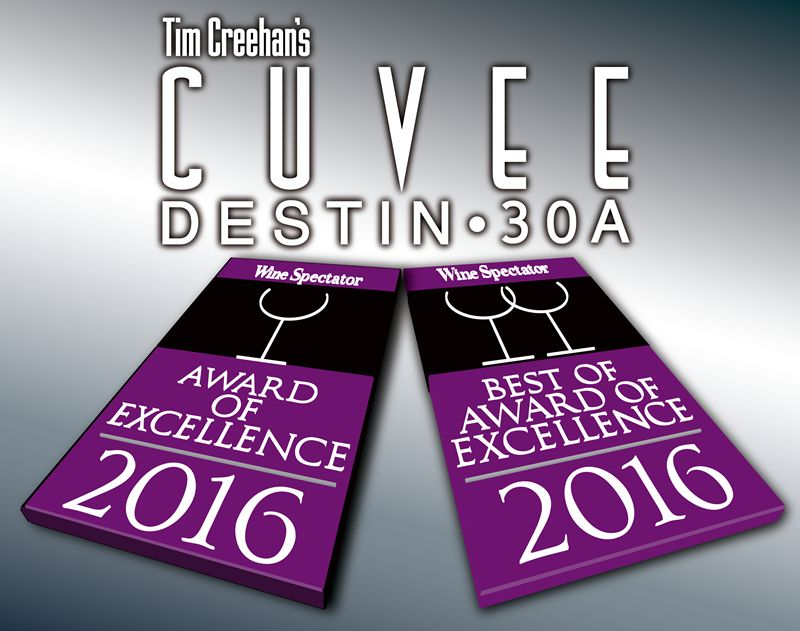 Creehan's Cuvee Destin • 30A both earn Wine Spectator Awards of Excellence