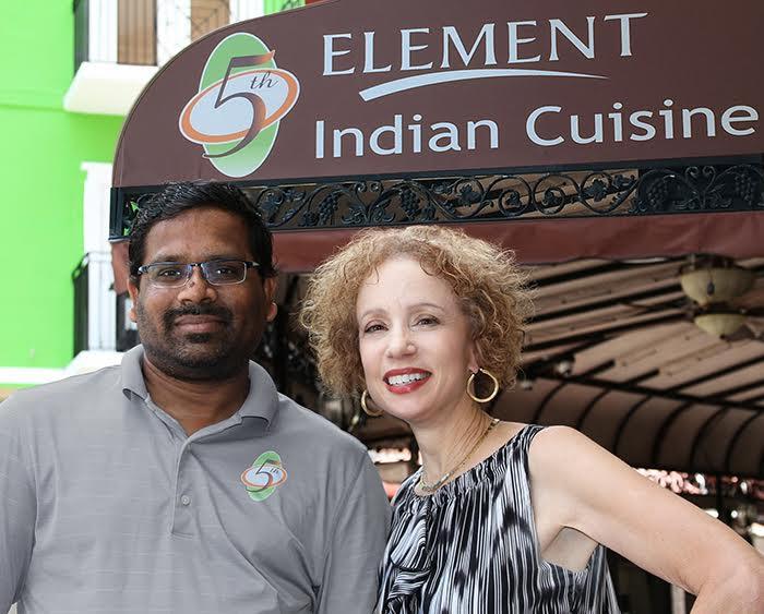Sridhar Sannala & Margaret Sheehan Jones at the new My 5th Element Palm Coast.