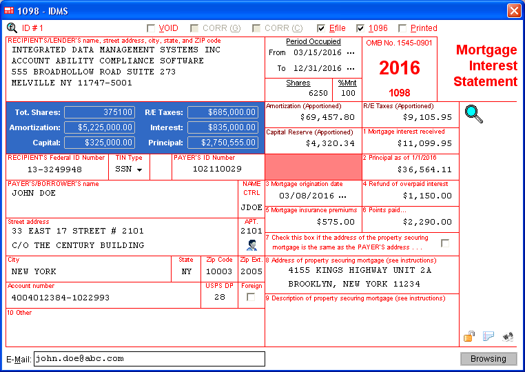 Irs Modifies Form 1098 For Reporting Year 2016 Idms Account
