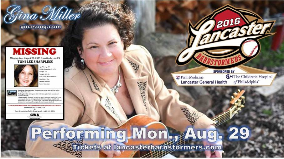 Gina Miller will perform at the Barnstormers baseball game Aug. 29.