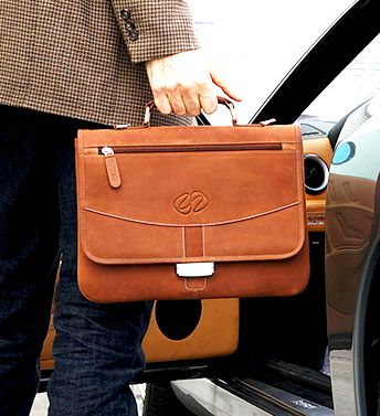 MacCase Premium Leather iPad Pro 12.9 Briefcase