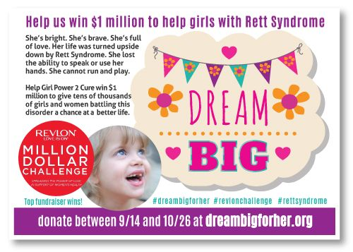 Dream Big for Girls with Rett Syndrome