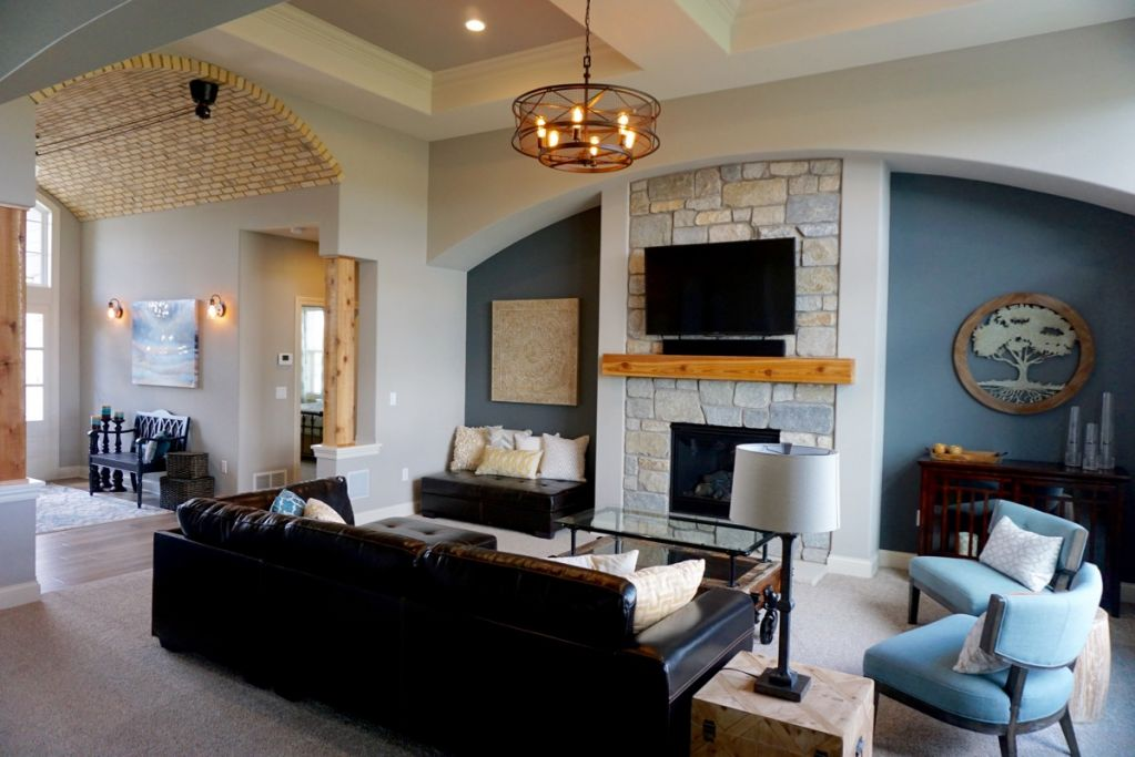 Great Room in Belman Homes 2016 MBA Parade of Homes Model, the Augustine.