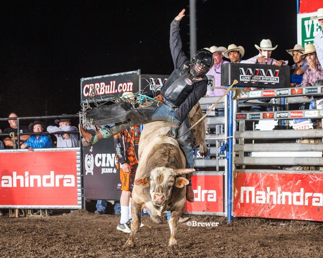 Rookie Rider On A Rookie Bull Wins First Performance In